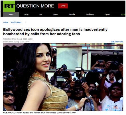 """乌龙!电话号码被性感女星演电影时误曝光,印度一男子遭""""连番轰炸"""""""