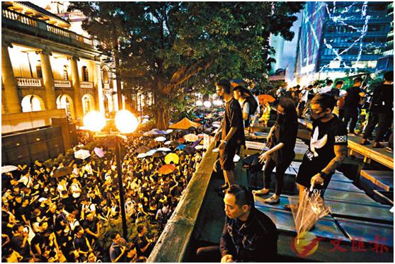 """昨晚香港""""公務員集會""""?港媒隨機采訪20人,18人系假冒!"""
