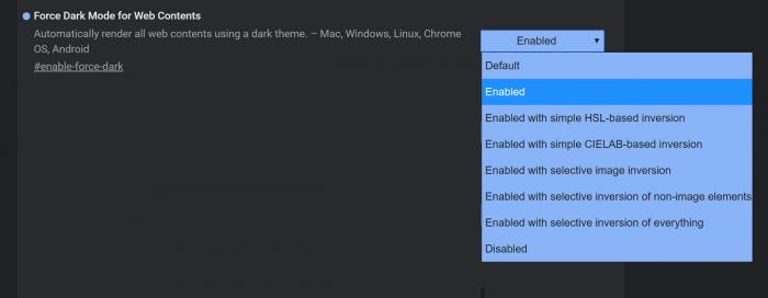 Chrome Canary新版:可强制任意网页进入Dark模式