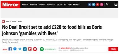 """用民众生命押注?英国反对党领袖警告约翰逊:""""无协议脱欧""""将带来灾难性后果"""