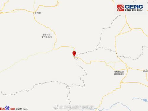 新疆巴音郭楞州若羌县发生3.0级地震 震源深度10千米
