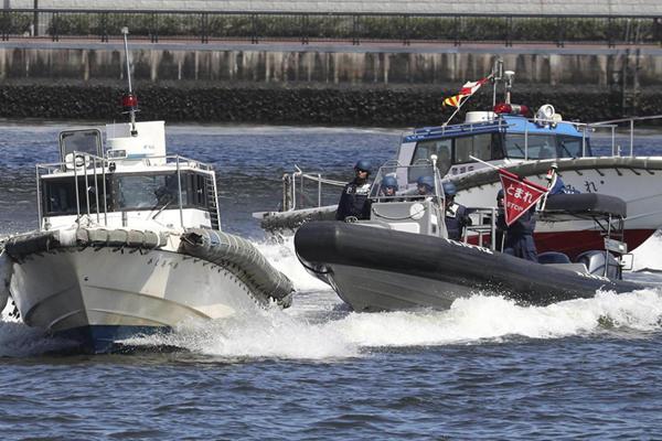 日本海上自卫队为2020年东京奥运会开展安保演习