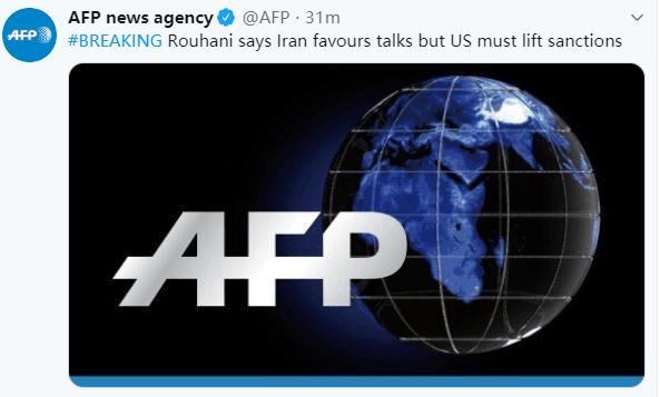 伊朗总统:伊朗乐于谈判,但美国必须先解除制裁