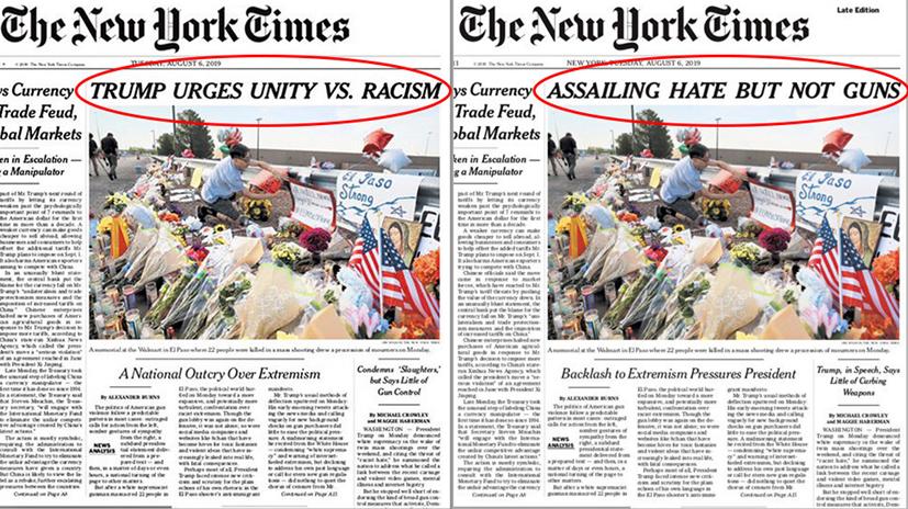 《纽约时报》因头条标题挨批急忙改标题换版,全因特朗普?