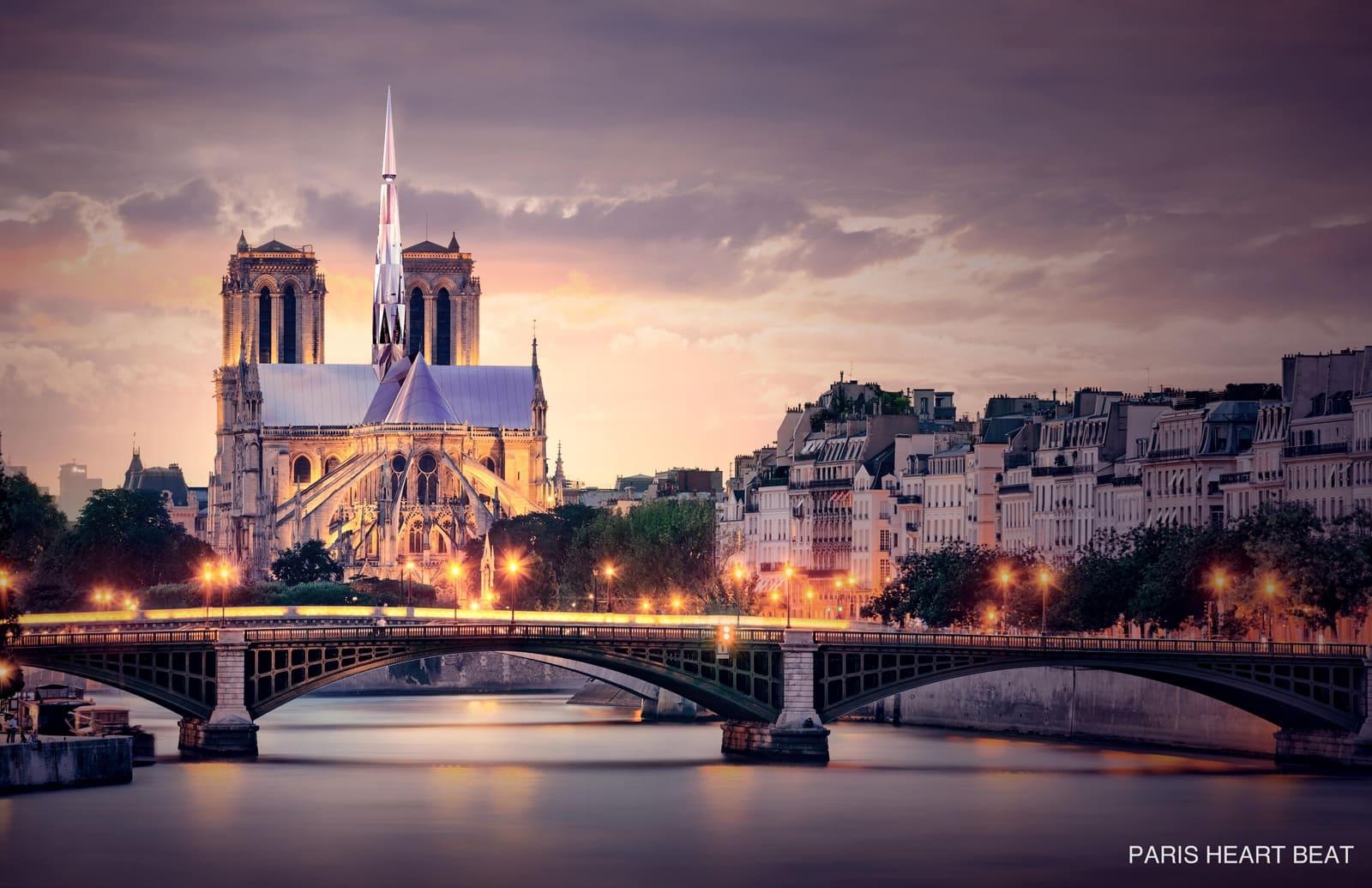 中国设计师磁悬浮设计赢得巴黎圣母院屋顶设计大赛