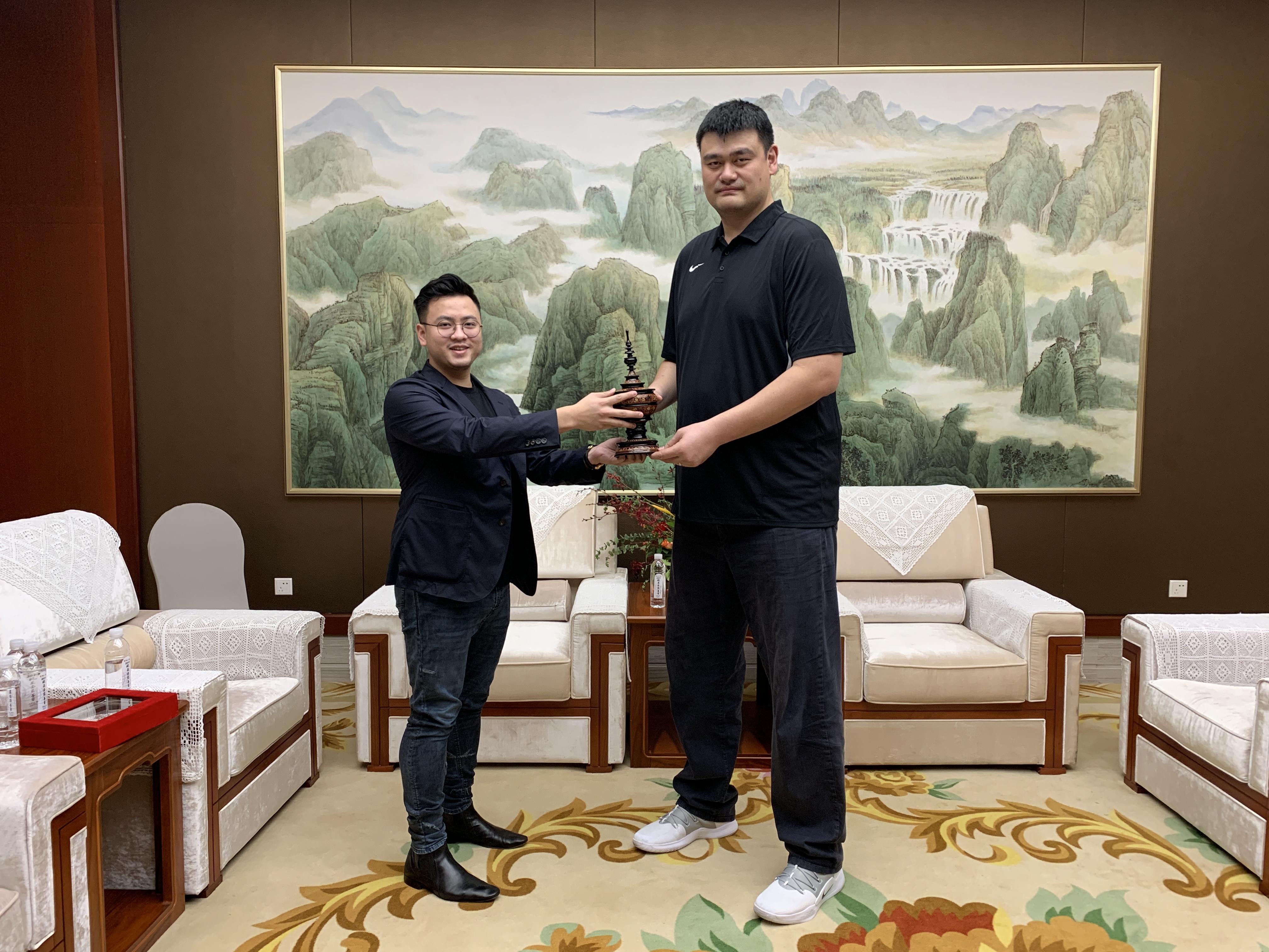 工作年金未来商场3月军械基地缅甸篮球界人士拜见姚明