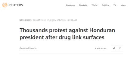 洪都拉斯总统疑涉毒?数千人街头抗议,要求总统下台