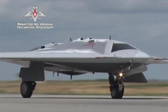 俄最神秘猎人无人机现场曝光 造型酷似美X47B