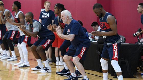 2019男篮世界杯前瞻:美国男篮训练备战