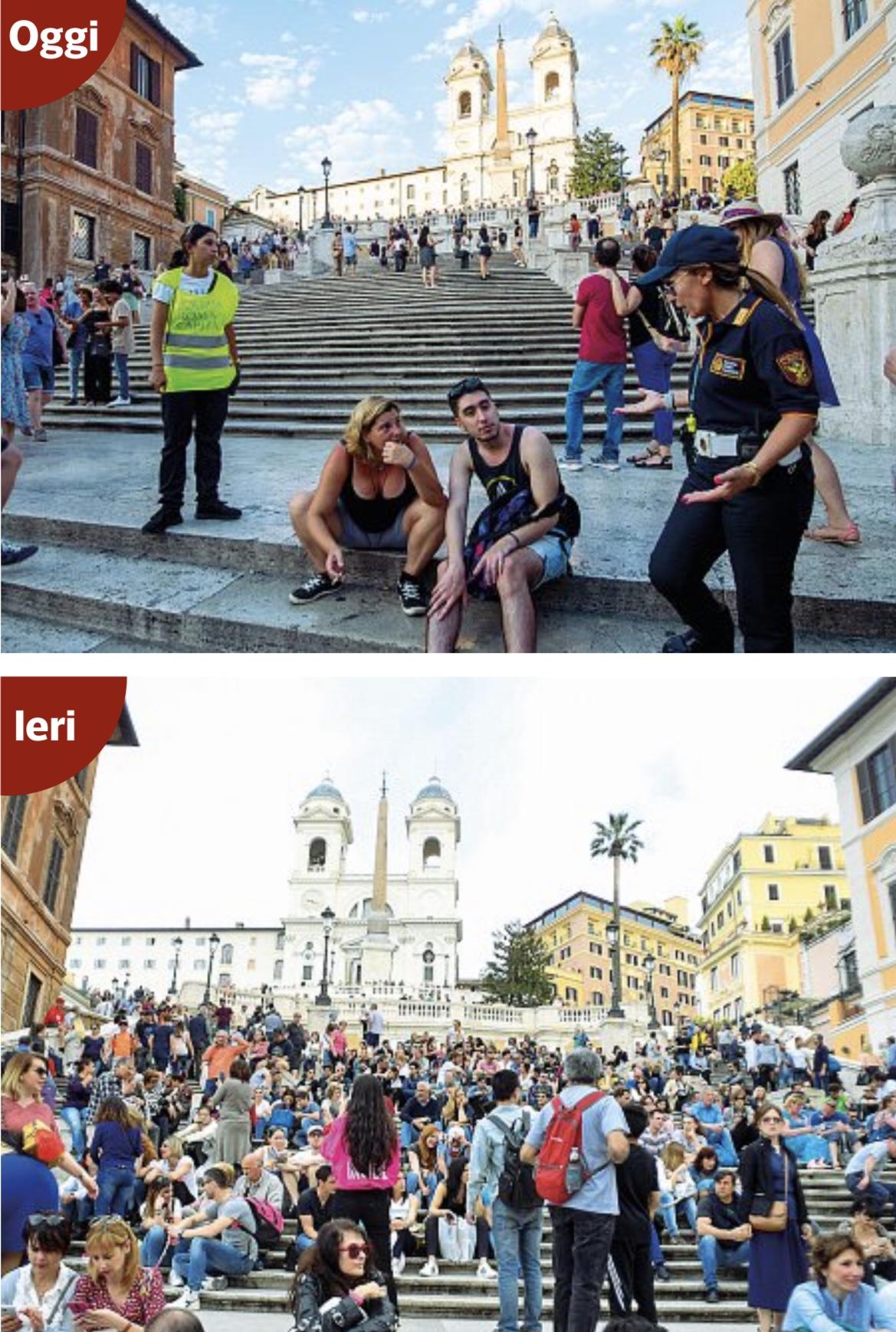 打卡可以,别坐下!游客坐在西班牙阶梯上或面临最高400欧罚款