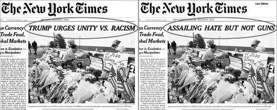 《纽约时报》道歉、被迫修改头版标题