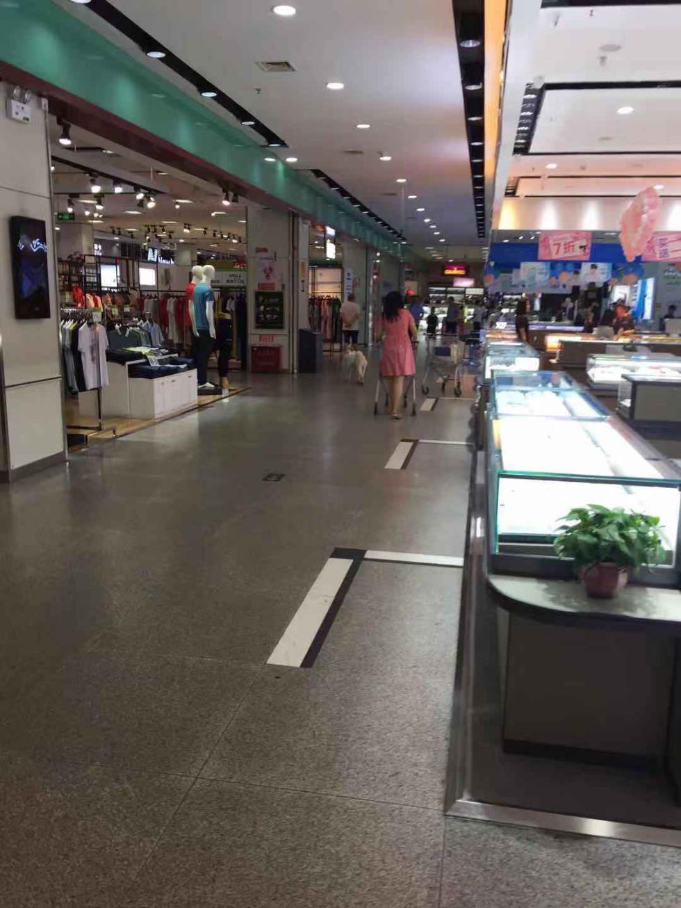 芙蓉区精彩生活超市,一条白色大狗在游逛。受访者 供图