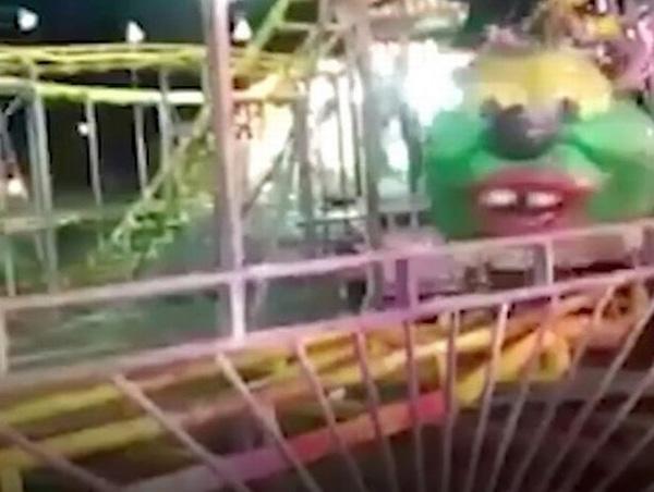 巴西一公园内儿童过山车翻车 导致3名儿童受伤