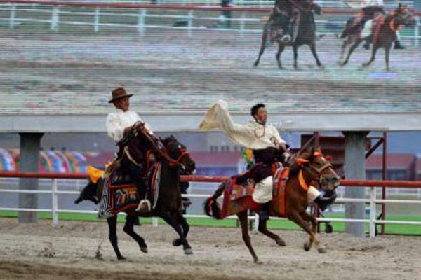 """策马奔腾 西藏当雄赛马节""""开跑"""""""