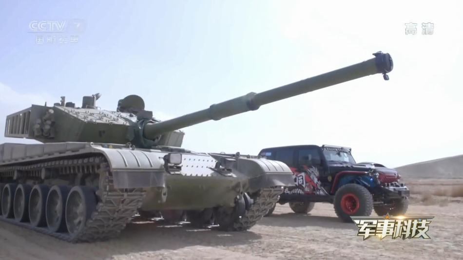 99A坦克和越野車對飆:臨近終點時上演反超絕殺
