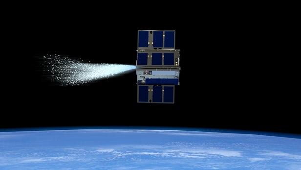 NASA的蒸汽推进CubeSat能在太空中相互控制