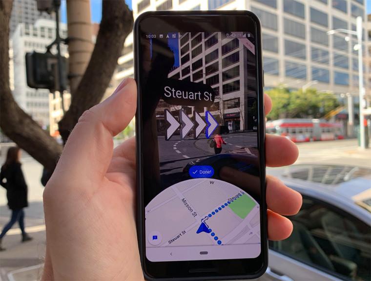 谷歌地图的AR实时视图功能开始公测