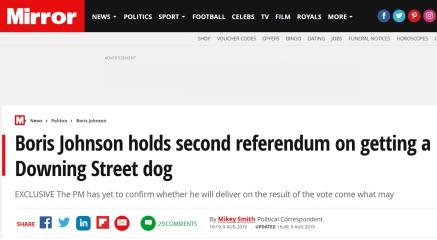 """真·锲而不舍!英国新首相就""""养狗""""计划发起""""公投"""""""