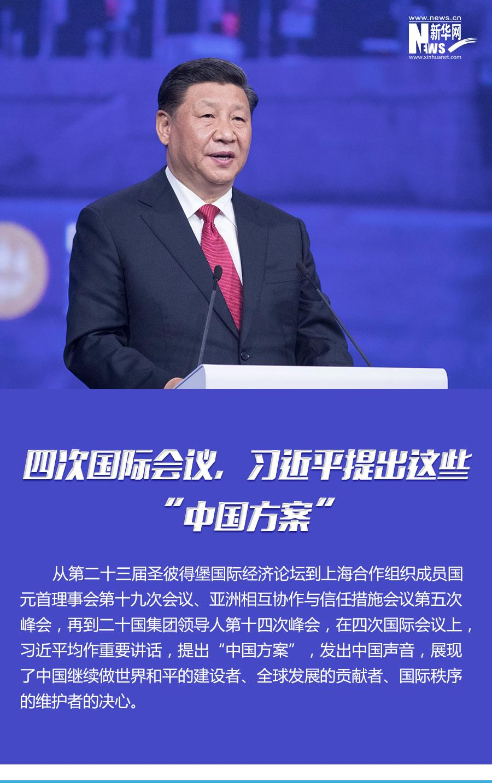 """四次国际会议,习近平提出这些""""中国方案"""""""