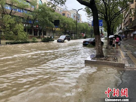 """""""利奇马""""肆虐:浙南小城一片狼藉 雨量监测点""""爆表"""""""