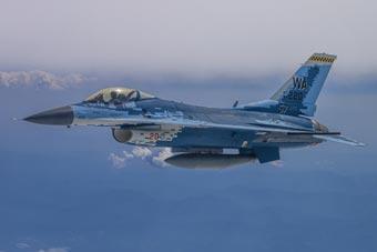美空军假想敌中队F16亮相航展 与苏57涂装超像