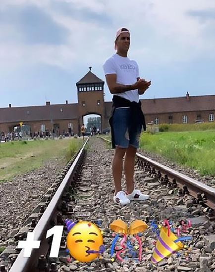 乌拉圭一球员晒照在奥斯维辛集中营庆祝生日 引发众怒
