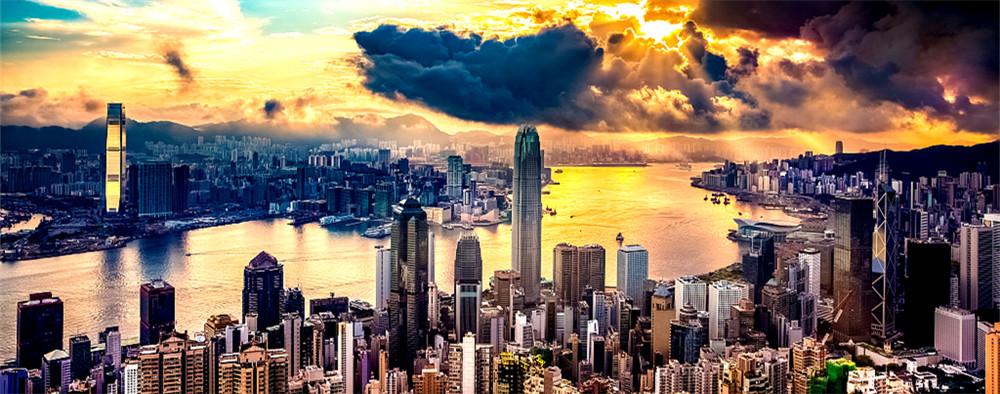 这里是香港的维多利亚港