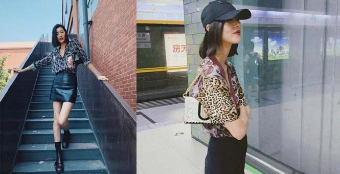腋下包火到一塌糊涂 大表姐刘雯背出了又酷又飒的时髦感