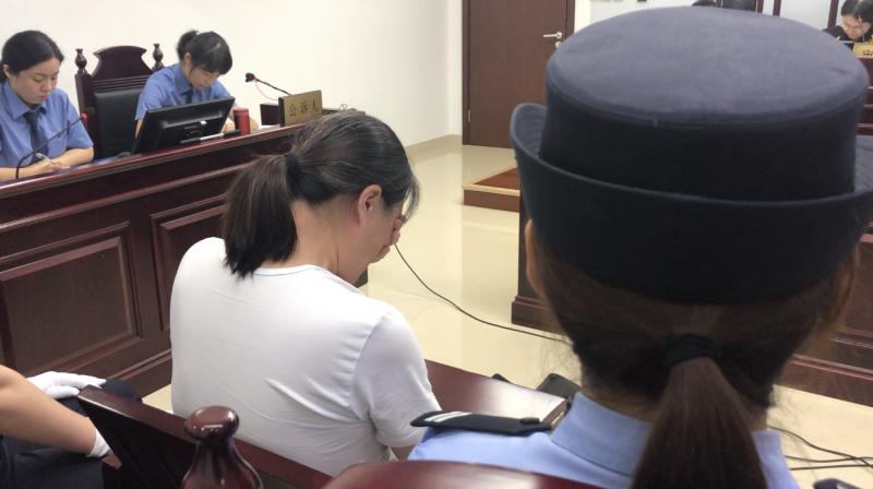 北京海淀女司机连撞8车案开庭 受审数次落泪