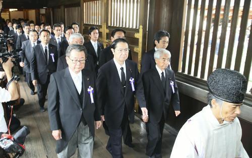 50名日本国会议员集体参拜靖国神社