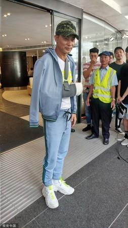任达华7月在广东出席活动被刺伤