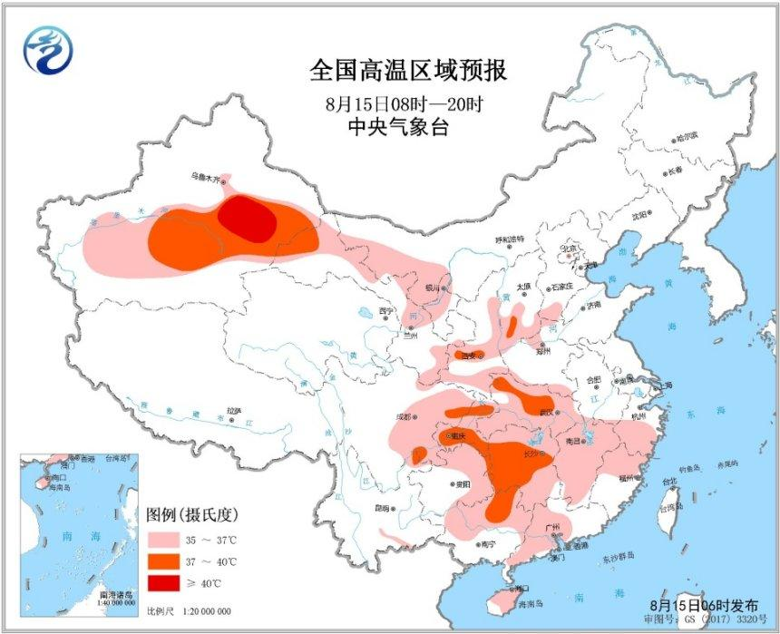 高温黄色预警 湖北湖南重庆等地最高气温可达39℃