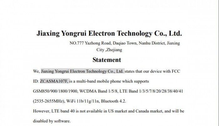 FCC文件顯示三星Galaxy A10s為第二款貼牌機
