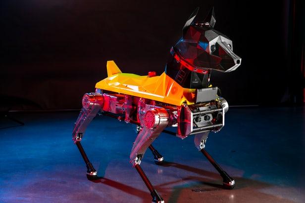 """Astro机器狗的3D打印头部包含支持AI的""""大脑"""""""