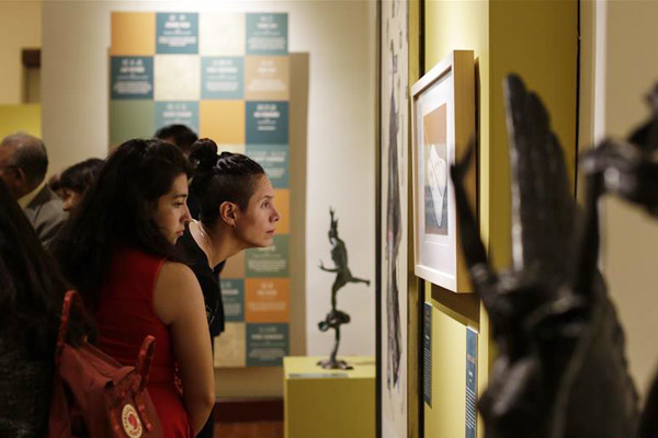中国当代美术作品展在墨西哥举行