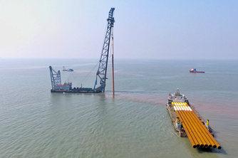 中广核岱山4号海上风电场项目东区正式开工