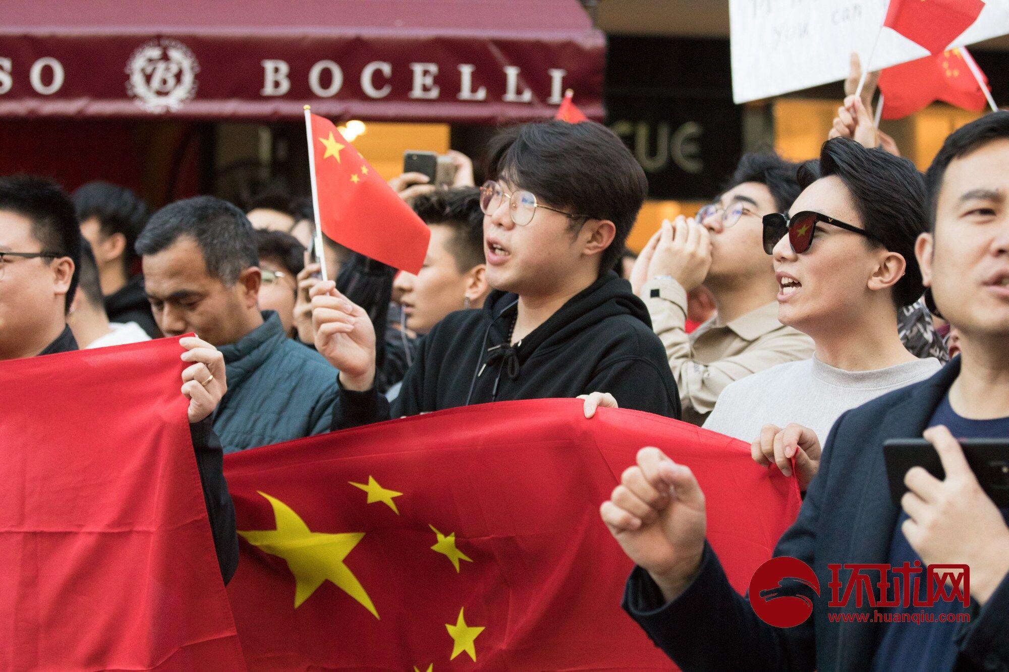 """""""爱香港,爱中国"""" 爱国口号响彻澳大利亚珀斯"""