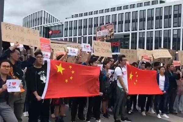 万众一心撑香港 世界各地华人举行爱国游行