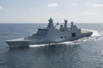 丹麦隐形护卫舰亮相 模块化设计一天可变医院船