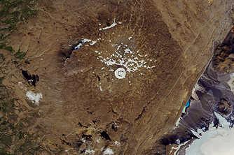 NASA公布对比照 显示冰岛一冰川30年后完全消失