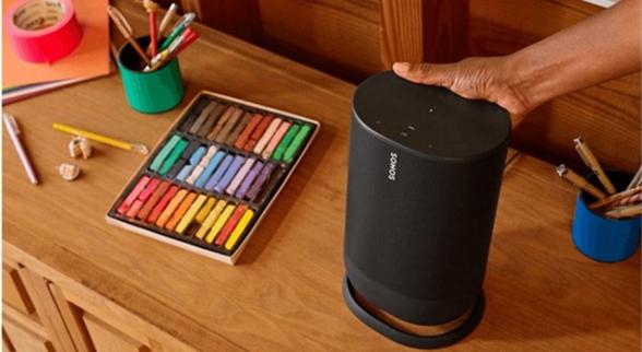 Sonos首款便携式蓝牙音箱Move官方宣传图曝光