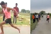 19岁少年赤脚跑进11秒 梦想破百米世界纪录