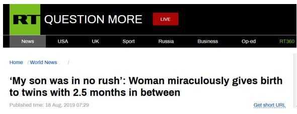 奇迹!两个半月内,哈萨克斯坦一患双子宫症女子先后生下两婴