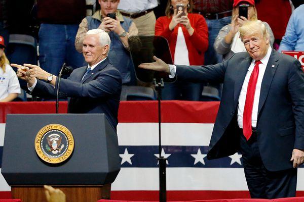特朗普称彭斯将是其2020年大选搭档