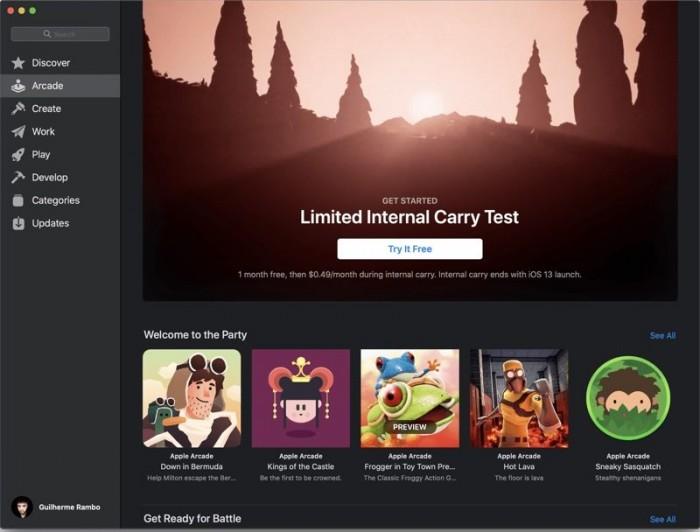 苹果游戏订阅服务启动内部员工测试