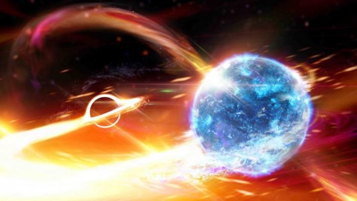天文学家发现了一个似乎是由黑洞吞噬中子星引起的引力波信号