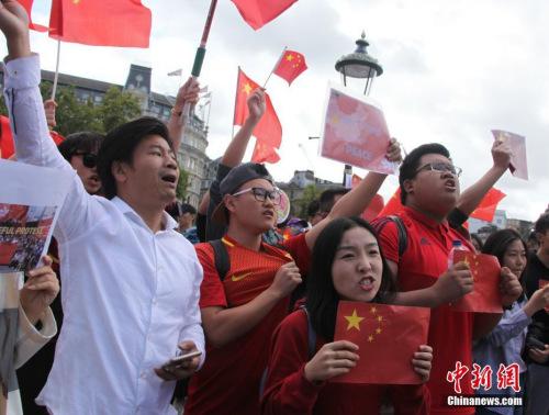 英国华人:反暴力,救香港