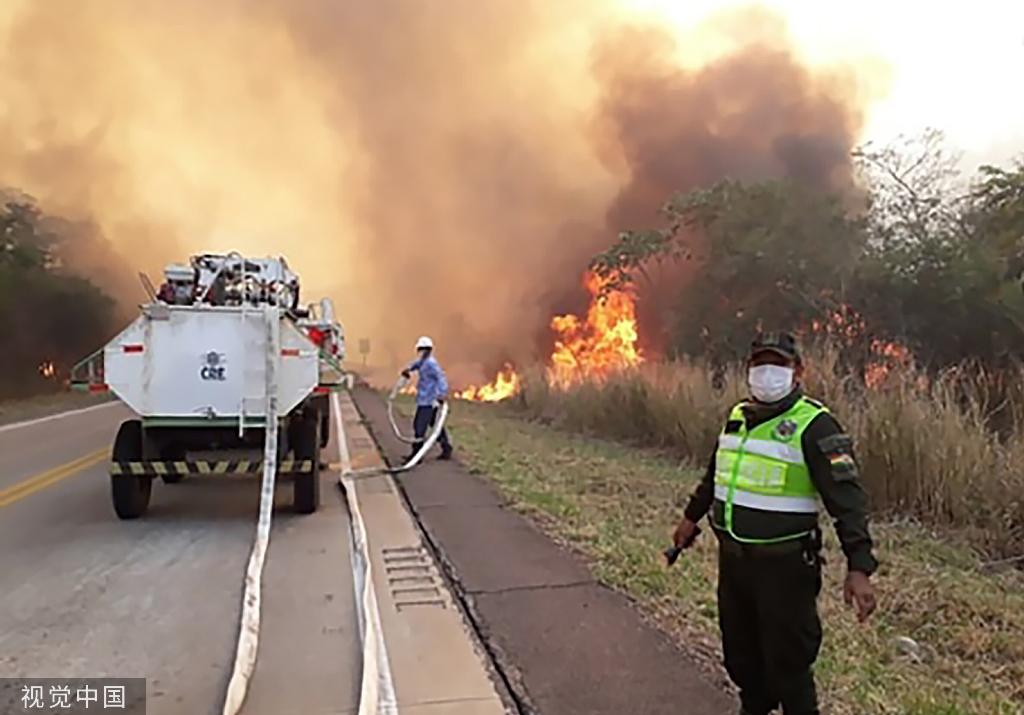 玻利维亚山火持续 已烧毁47.1万公顷森林和农田