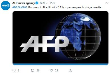 最新!巴西劫持公交车歹徒已被击毙,此前曾劫持16名乘客