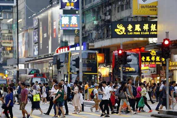 没有暴力的香港,居民生活平静
